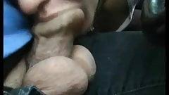 Nice blowjob foreskin in car