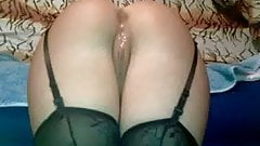Russian Wife In Black Stockings Ass Fucked