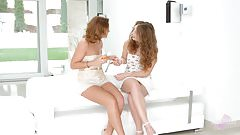 Sylvia Lauren and Bunny Babe in Pre party surprise lesbian
