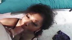 Ebony Cock Sucking and Tit Job