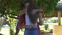 Hot Blond Brazillian Teen Anal At Outdoor Patio