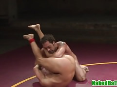 Ripped wrestling jock deepthroats hunks cock