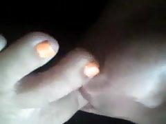 Self worship orange toes
