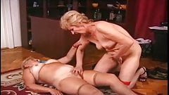 Girls have fun! Lesbo Hungarian Grandmas Marika and Chloe