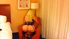 Sexy blonde teasing