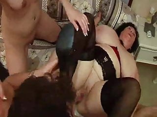 Madame Olga - Huge Boobs & Ass Hard Threesome Fucking