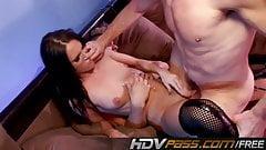 HDVPass Jennifer's first double penetration encounter!