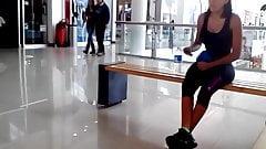 Delgadita Tetona Saliendo Del Gym