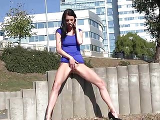 Hot Babe UpSkirt And Pissing by FetishGreg88