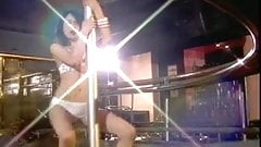 Thai bar girl performs pole dancing