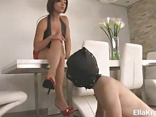 Ella Kross Foot Worship With Heel Cleaning