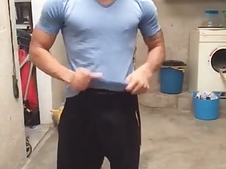 Hot gay shows us his incredible cock