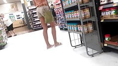 friend shopping candid teen in shorts