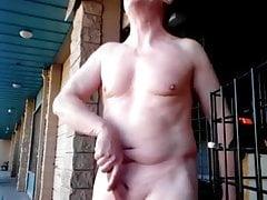 My wank & cum outdoor