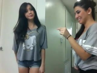 Two Hot Sexy Teens Performing Don't Want No Short Dick Man