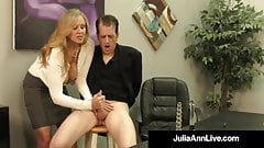 Adult Award Winner Julia Ann Drains A Cock With Hot HandJob! porn image