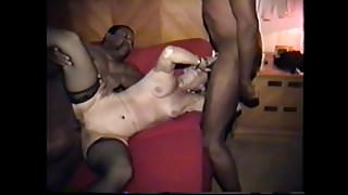 cuckold's wife gets cum on face and belly's Thumb