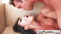 Asa Akira gets a solid and hard fuck