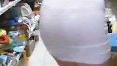 Teen Thong Visible VPL Through Dress