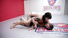 Charlotte Sartre nude wrestling Jay West sucking his cock