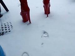 DGB - PETRA TS IN RED HEELS SNOWWHITE SISSY