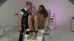 Lesbian bondage and clamps