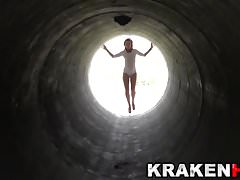 Hot submissive MILF in a outdoor video