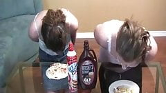 Ashley and Kala Pie Eating Contest