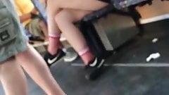 Upskirt legs young girl