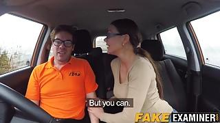 Hunky driving instructor Ryan Ryder plows Tina Kay