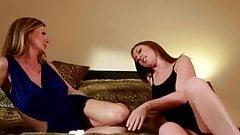 Hot lesbians get nasty in bed