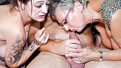 LETSDOEIT - Horny German Whores Sharing Lover's Cock