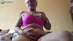 Grandmother Gerdi from Germany is one horny housewife