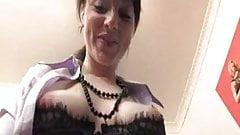 Irish girl masturbates in offi