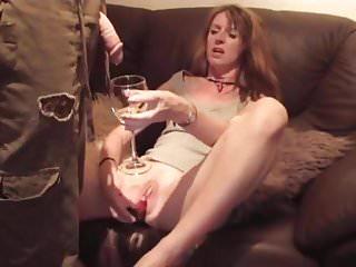 Horny pissdrinking slut masturbate and cum