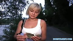 HornyAgent Cock sucking short girl with blonde hair