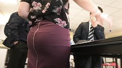Thick Portuguese booty eating up dress