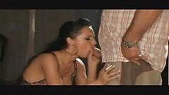 Hot Brunette Cougar Smoking BJ