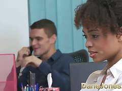 Dane Jones Sexy young Ebony office girl fucks the boss