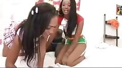 3 Ebonys Lesbians - Sex Toys and games