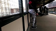 Bubble Booty Latina in Floral Leggings