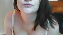 Cute girl big tits webcam solo