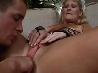Young guy fucks mature maid