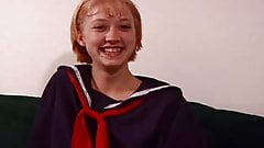 Cute Blonde Schoolgirl Gets Fingered, Eaten And Fucked