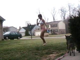 Checking mail in panties 2