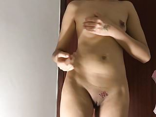 Young Girl Getting Her Pussy Fucked With Toy While Standing