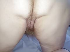 long hairy pussy pubes, hairy ass on all 4's
