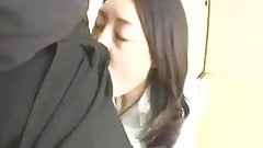 Japanese Cumslut Office Lady Mouthful of Cum