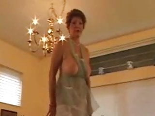 Granny Head #34 Hot Busty GILF on the Kitchen Table