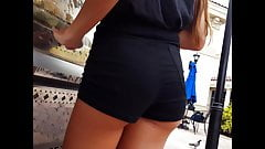 Candid voyeur hot legs teen tight shorts and ass blonde